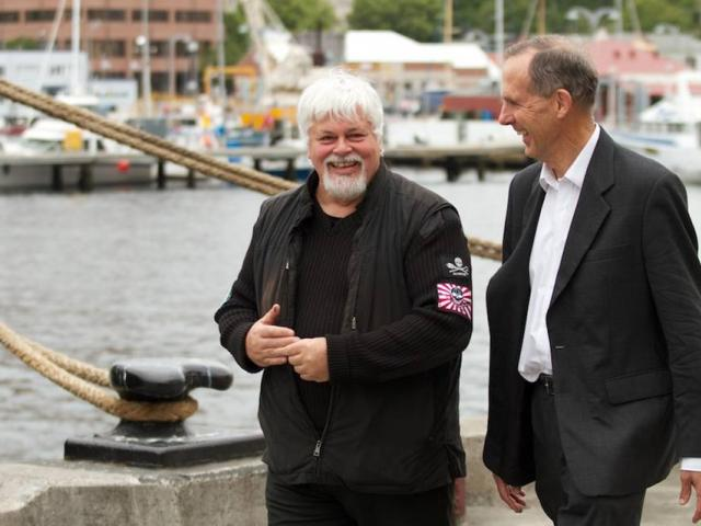 Bob Brown with Paul Watson